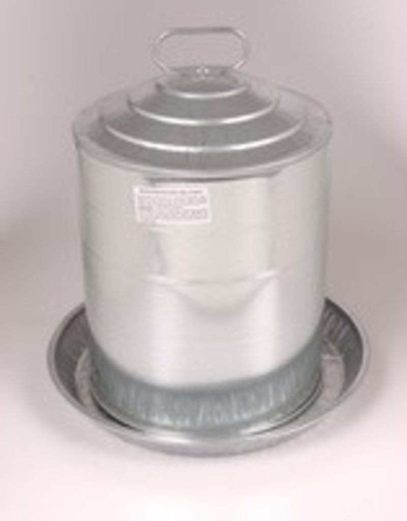 Double Wall Galvanized Poultry Fountain - 5 Gallon