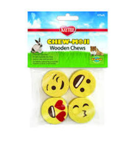 Kaytee Kaytee Chew-Moji Wooden Chews - 4pk