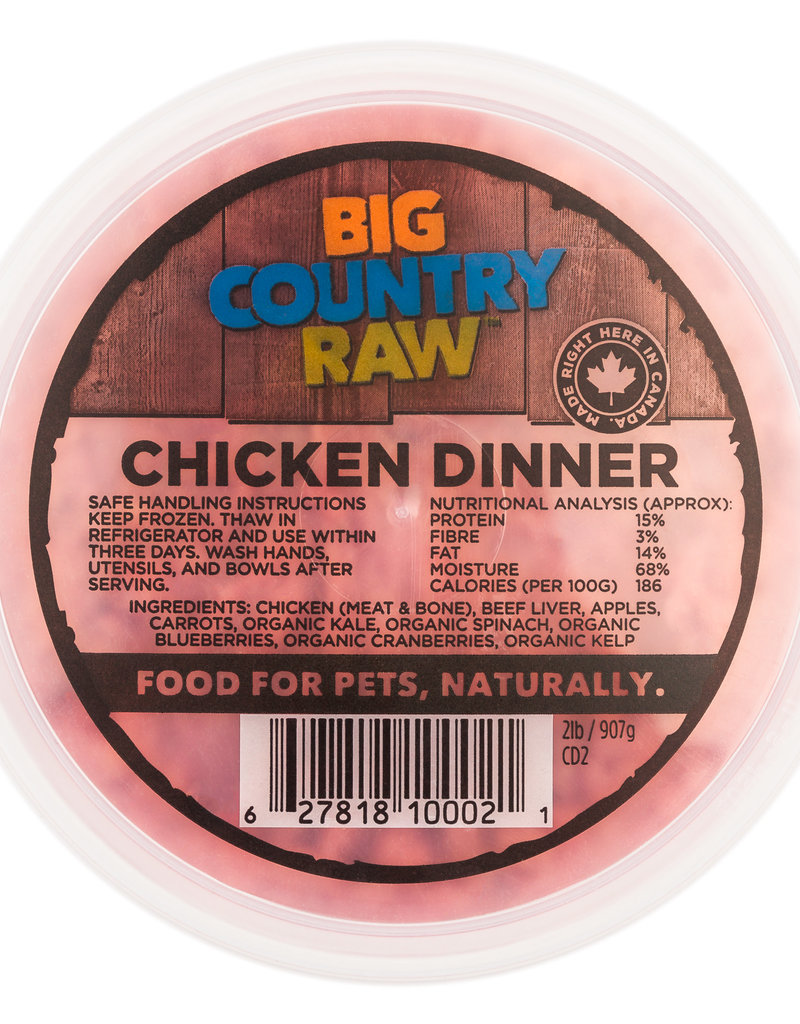 Big Country Raw Big Country Raw Chicken Dinner 2lb