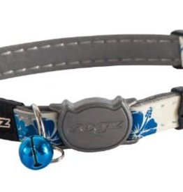 rogz Rogz Glow Cat Collar Blue Flow 8-12in