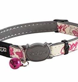 rogz Rogz Glow Cat Collar Pink Butterfly 8-12in