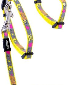 rogz Rogz Reflecto Cat Harness and Leash XS Yellow 8-12in
