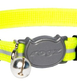 rogz Rogz Alley Cat Collar Yellow 8-12in