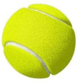 "Fetcherz Fetcherz Tennis Ball with Squeaker 2.5"" 3pk"