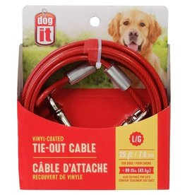 Dogit Dogit 25' Tie Out Cable Red Large