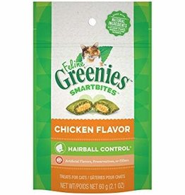 Greenies Greenies Feline Smartbites Hairball Control Chicken 2.1oz