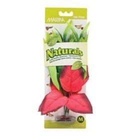 """Marina Marina Naturals Red & Green Pickerel Silk Plant - Medium - 9 - 10"""" (23 - 25.5 cm)"""