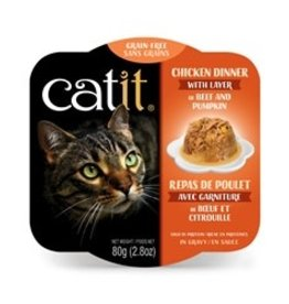 Catit Catit Chicken Dinner with Beef & Pumpkin - 80 g (2.8 oz)
