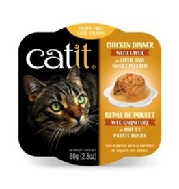 Catit Catit Chicken Dinner with Liver & Sweet Potato - 80 g (2.8 oz)
