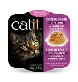 Catit Catit Chicken Dinner with Tilapia & Green Beans - 80 g (2.8 oz)