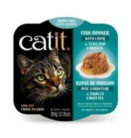 Catit Catit Fish Dinner with Tuna & Carrots - 80 g (2.8 oz)