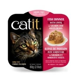 Catit Catit Fish Dinner with Salmon & Green Beans - 80 g (2.8 oz)