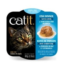 Catit Catit Fish Dinner with Whitefish & Pumpkin - 80 g (2.8 oz)