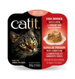 Catit Catit Fish Dinner with Shrimp & Green Beans - 80 g (2.8 oz)