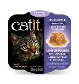 Catit Catit Fish Dinner with Crab Flavor & Pumpkin - 80 g (2.8 oz)