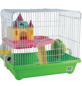 Animal Treasures Animal Treasures Small Animal Castle Cage - Green