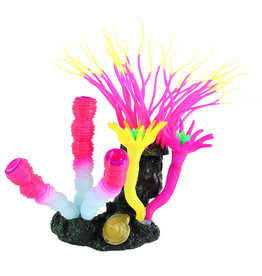 Underwater Treasures Underwater Treasures Glow Action Bubbling Anemone with Sponge Coral - Rose