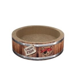 Catit Catit Play Pirate, Barrel Scratcher with Catnip L 42cm