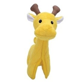 Zeus Safari Dog Toys - Yellow Giraffe - 24 cm (9.5 in)