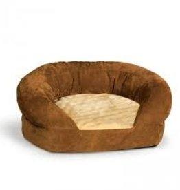 K&H Ortho Bolster Sleeper Small Brown Velvet