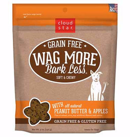 Cloud Star Cloud Star Wag More Bark Less Soft & Chewy Grain Free Peanut Butter & Apples Dog Treats
