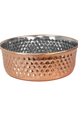 Arjan Arjan Diagonal Diamond Copper Bowl 16cm