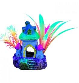 """Marina Marina iGlo Ornament - Mushroom House with Plants 3"""""""
