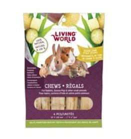 Living World Small Animal Chews Sugar Cane Sticks 4pk