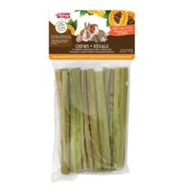 Living World Small Animal Chews Papaya Sticks 10pk