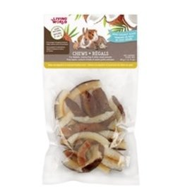 Living World Small Animal Chews Coconut Chips 45g