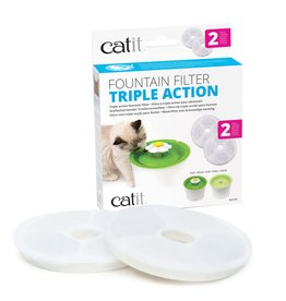 Catit Catit Triple Action Fountain Filters - 2 pack