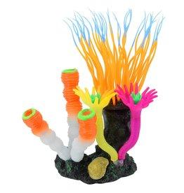 Underwater Treasures Underwater Treasures Bubbling Anemone with Sponge Orange