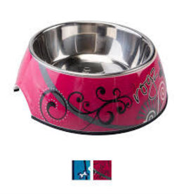 rogz ROGZ pupz bubble bowl pink bones small