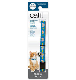 Catit catit breakaway pink bow&blue