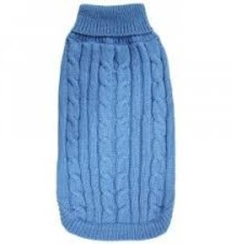 "Doggie-Q Doggie-Q Cable knit sweater Nebulas blue 18"""