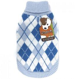"Doggie-Q Doggie-Q  blue arygle sweater 16"""