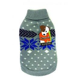 Doggie-Q Doggie-Q snowflake sweater 16in