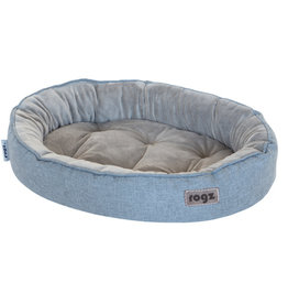 rogz Rogz Medium Cuddle Oval Pod Grey 22x15x5