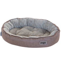 rogz Rogz Medium Cuddle Oval Pod Brown 22x15x5