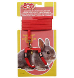 Living World Adjustable Harness and Lead Set For Dwarf Rabbits - Red