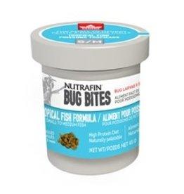 Nutrafin Fluval Bug Bites Tropical Fish Formula - S/M 45 g