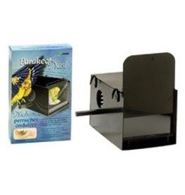 Hagen Parakeet Nest Box - Black - 22 x 13.2 x 13.2 cm