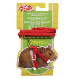 Living World Figure 8 Harness and Lead Set For Hamsters - Red
