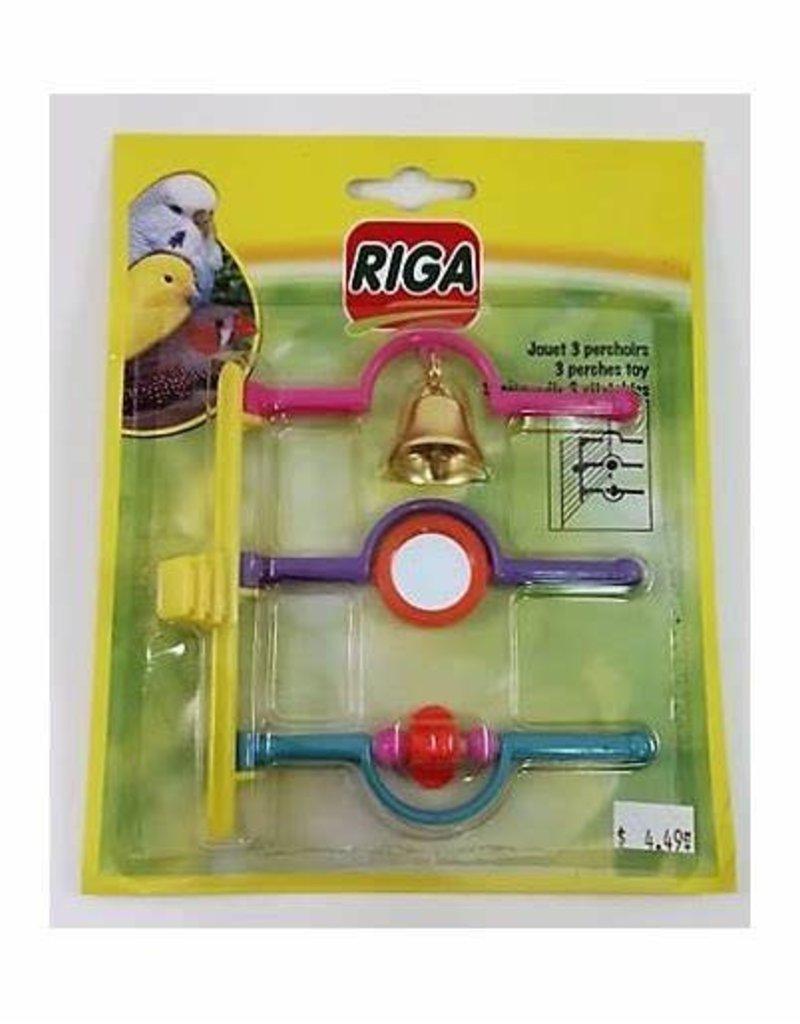 riga Riga Bird Toy 3 Perches