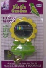 riga Riga Bird Toy Mirror Flower Shaped