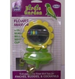 riga Riga Bird Toy Mirror Flower Shaped