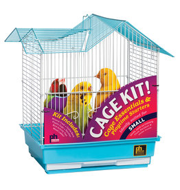 Prevue Hendryx Prevue Hendryx Small Parakeet Starter Kit - Double Roof Top - Blue