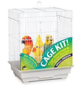 "Prevue Hendryx Prevue Hendryx Square Roof Bird Cage Kit - White - 18"" x 14"" x 22"""