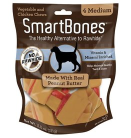 Smart Bones Smart Bones Peanut Butter Medium 4 Pack