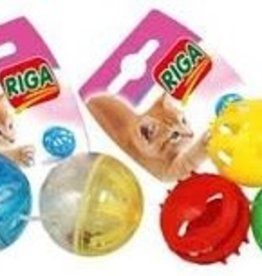 riga Riga Cat Toy - Plastic Ball with Bells